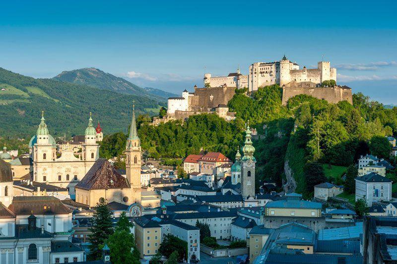 Vista del castillo de Salzburgo   Foto: Turismo de Salzburgo