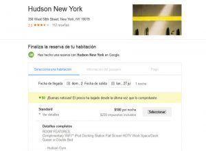 Google da los primeros pasos en el negocio de las reservas de hoteles