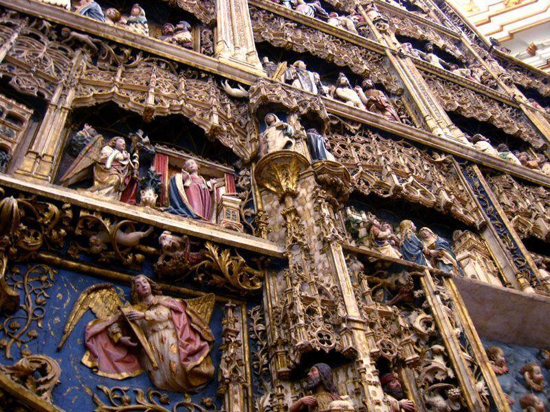 Detalle del retablo de alabastro del Monasterio del Paular | Foto: Beatriz de Lucas