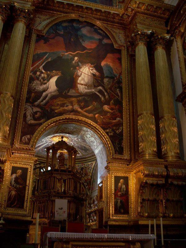 Cuadro de Juan Ricci que representa a San Millán en plena batalla | Foto: David Fernández