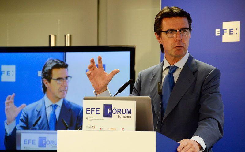 José Manuel Soria, ministro de Turismo, en uno de los foros organizados por la Agencia EFE | Fuente: Ministerio de Industria, Energía y Turismo