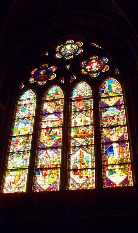Vidrieras de la catedral de León | Foto: David Fernández