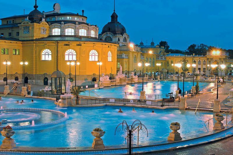 Balneario urbano en Budapest