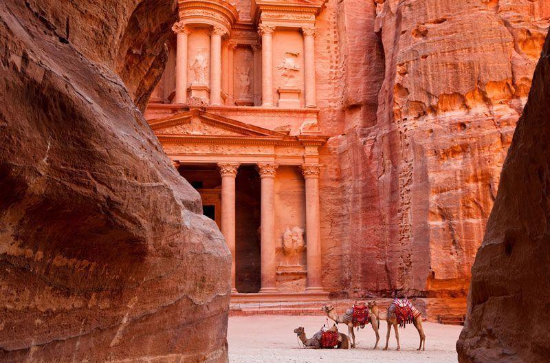 El Tesoro de Petra desde el Siq | Foto: Turismo de Jordania