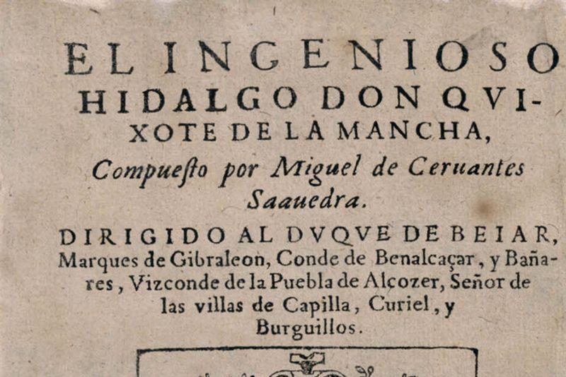 Primera edición del 'Quijote' | Foto: Biblioteca Nacional de España