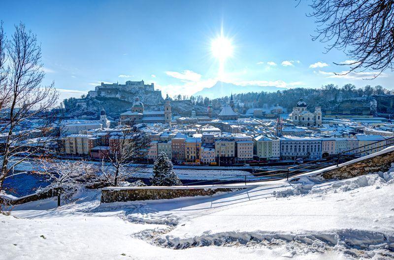Vista de Salzburgo nevado | Foto: Turismo de Salzburgo