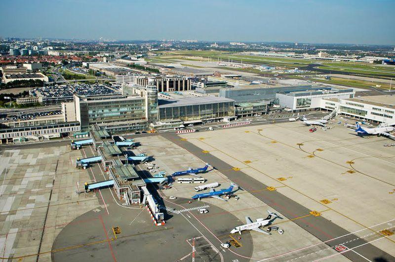 Vista aérea del Aeropuerto de Bruselas-Zayentem