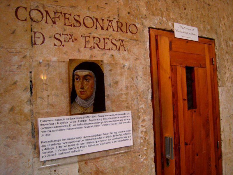 Confesionario de Santa Teresa de Jesús en el Convento de San Esteban de Salamanca