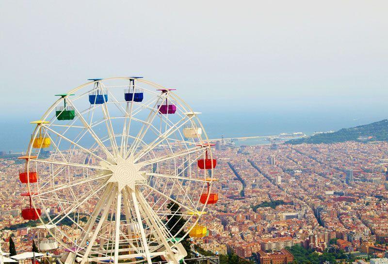La ciudad de Barcelona, vista desde el Tibidabo | Foto: Tiburi para Pixabay