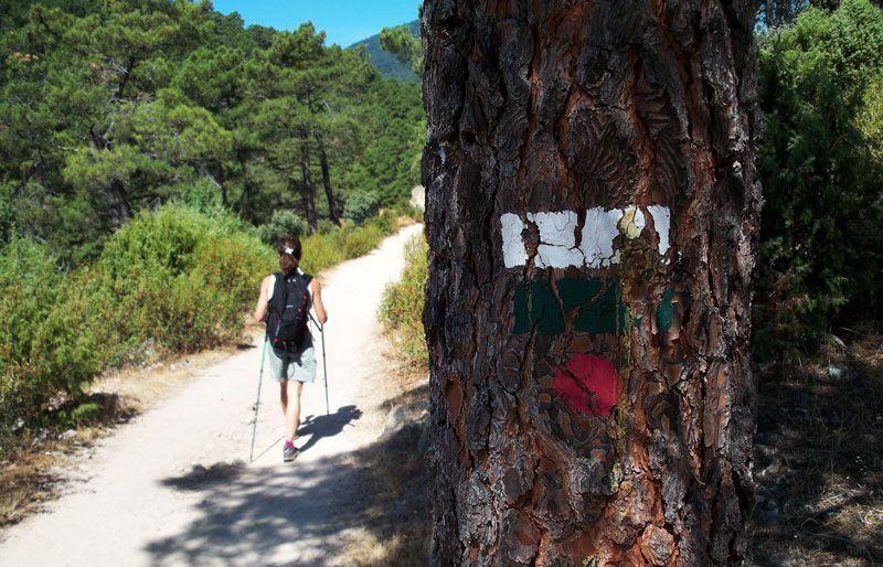 Señales verdes, blancas y rojas en la Ruta de las Trincheras | Foto: David Fernández