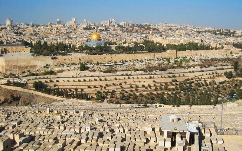 La ciudad de Jerusalén vista desde el Monte de los Olivos | Foto: David Fernández