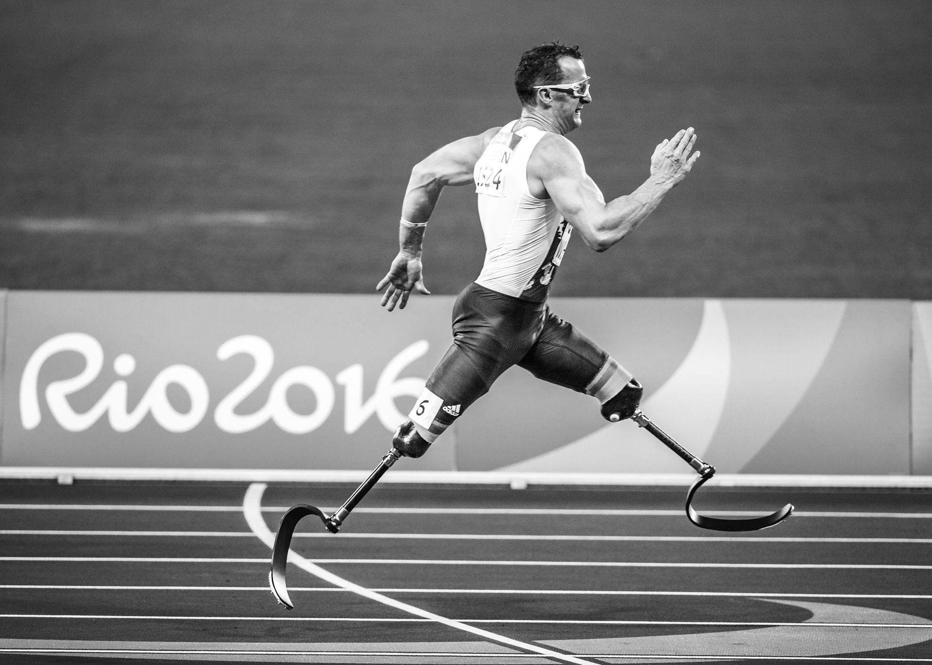 Atleta en Juegos Paralímpicos de Río de Janeiro 2016   Foto: Pexels para Pixabay
