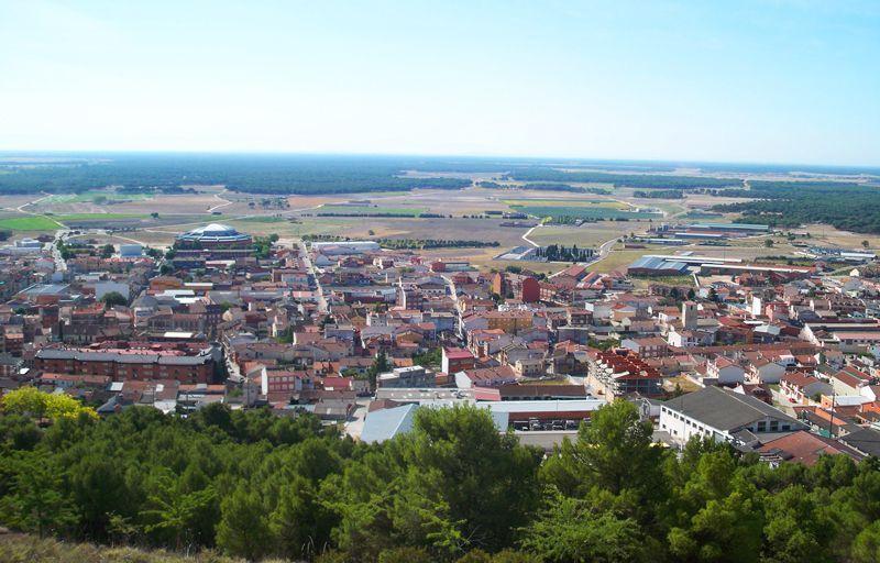 Panorámica de Íscar desde su castillo | Foto: David Fernández