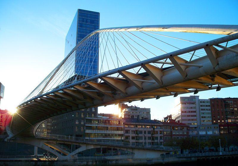 Puente Zubizuri de Bilbao | Foto: David Fernández