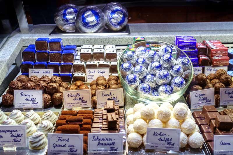 Chocolates del Cafe Fürst en Salzburgo   Foto: Turismo de Salzburgo