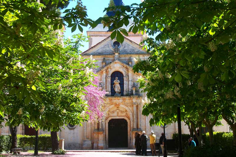 Portada del Palacio-Iglesia de Giyeneche en Nuevo Baztán | Foto: David Fernández