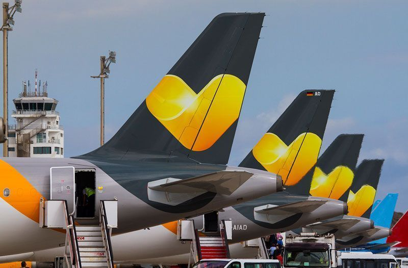 Aviones de Thomas Cook en parking | Foto: Thomas Cook