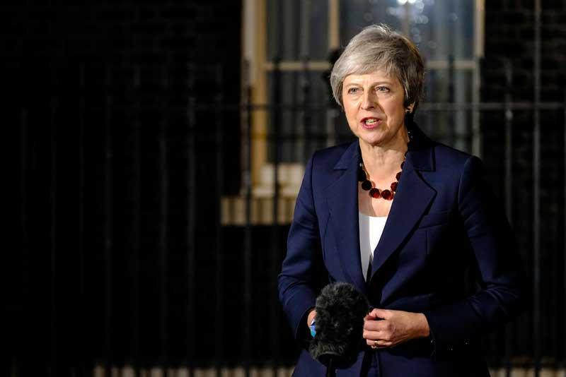 Theresa May se dirige a los medios | Foto: Flickr Number 10